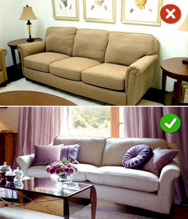 Chọn gối cho sofa phải cân nhắc về kết cấu và chất liệu phù hợp - Nadu Furniture
