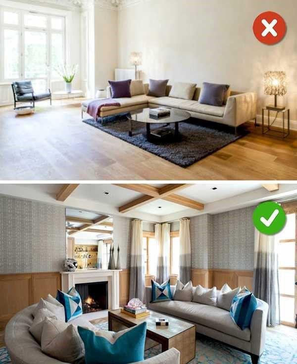 Với phòng khách nhỏ hẹp không nên đặt Sofa cạnh tường_Nadu Furniture