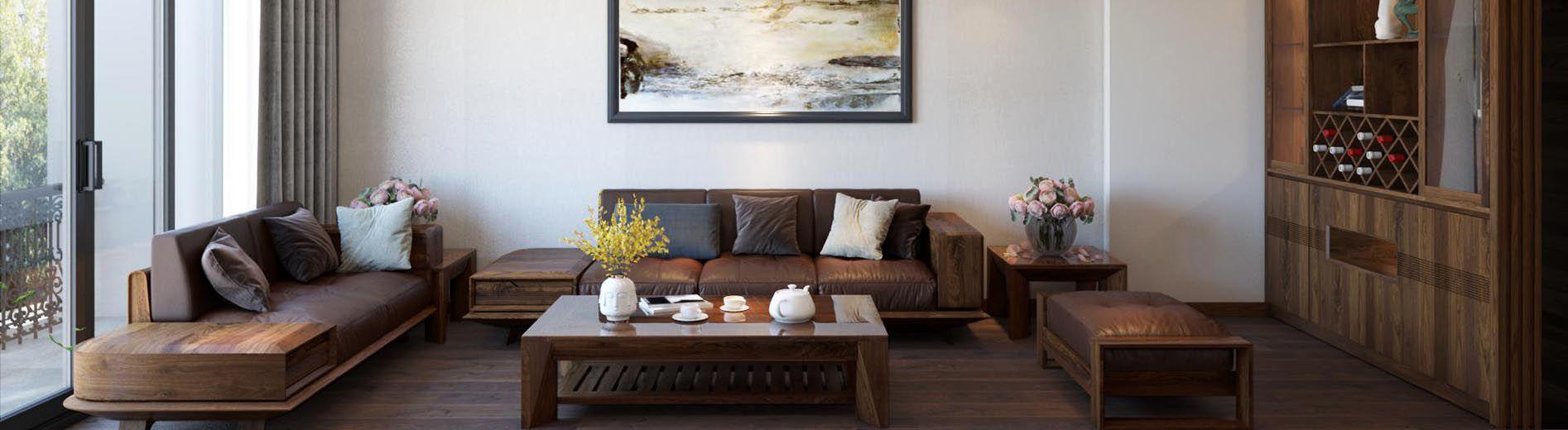 Banner Sofa gỗ óc chó - Nội thất phòng khách đẹp - Nadu Funiture