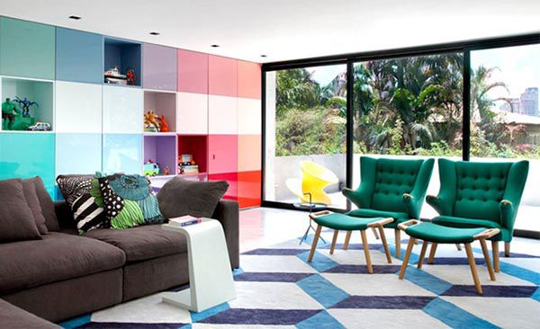 Đôi khi phá cách trong thiết kế giúp bạn có một phòng khách đẹp và lạ