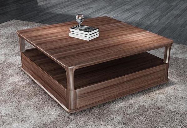 Bàn trà gỗ óc chó có nhiều kiểu dáng đa dạng - Nadu Furniture