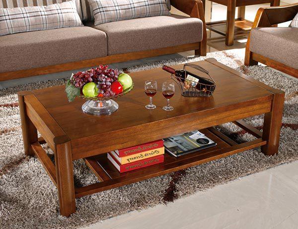 Bàn trà gỗ dễ dàng kết hợp với các món đồ nội thất phòng khách khác - Nadu Furniture