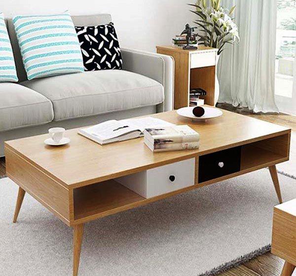 Bàn trà gỗ tự nhiên có mẫu mã đẹp và độ bền rất cao - Nadu Furniture