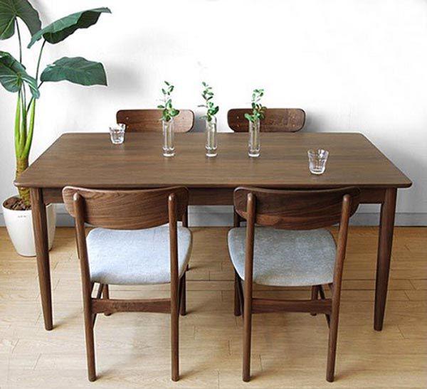 Bộ bàn ghế ăn gỗ óc chó cao cấp dành cho 4 người - Nadu Furniture