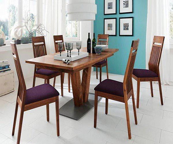 Bộ bàn ghế ăn gỗ óc chó kiểu phá cách mới lạ - Nadu Furniture