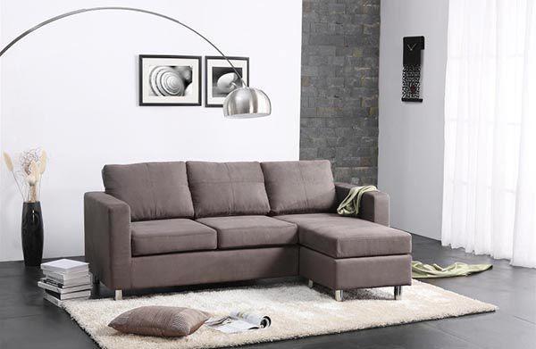 Các mẫu sofa đẹp cho phòng khách - Ghế Sofa chữ L nhỏ gọn
