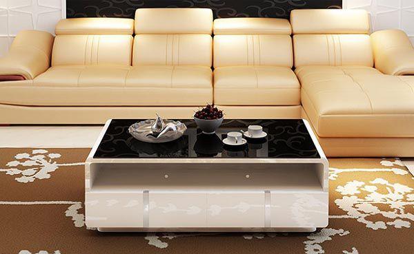 Lựa chọn màu sắc bàn trà phù hợp không gian và ghế sofa