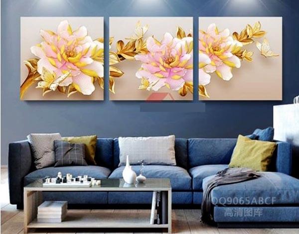 Màu sắc của tranh, sofa và không gian phòng phải thống nhất thành 1 tổng thể - Nadu Furniture