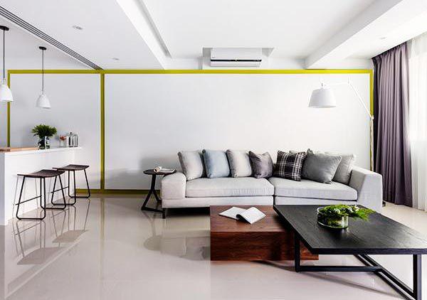 Màu trắng tinh khôi cho phòng khách thêm sang trọng - Nadu Furniture