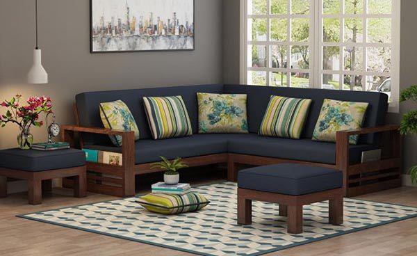 Mẫu sofa chữ L bằng gỗ óc chó đơn giản mà cao cấp - Nadu Furniture