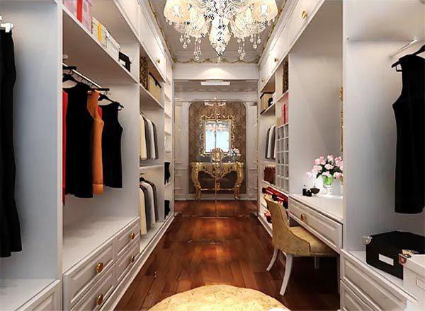 Mẫu thiết kế phòng thay đồ biệt thự sang trọng và hiện đại - Nadu Furniture