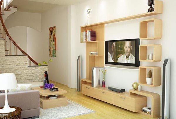 Những mẫu kệ tivi phòng khách nhà ống phù hợp nhất - Nadu Furniture