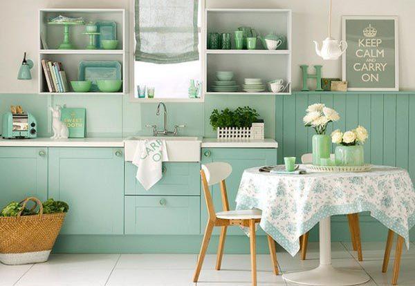 Phòng bếp nhẹ nhàng tinh tế với tông màu Pastel - Nadu Furniture