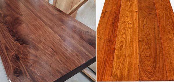 So sánh gỗ óc chó và gỗ hương về màu sắc và vân gỗ - Nadu Furniture