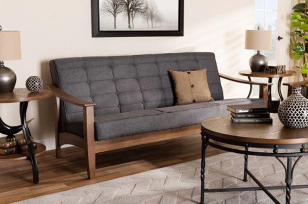 Sofa và bàn trà gỗ óc chó cao cấp tại Showroom Nadu Furniture