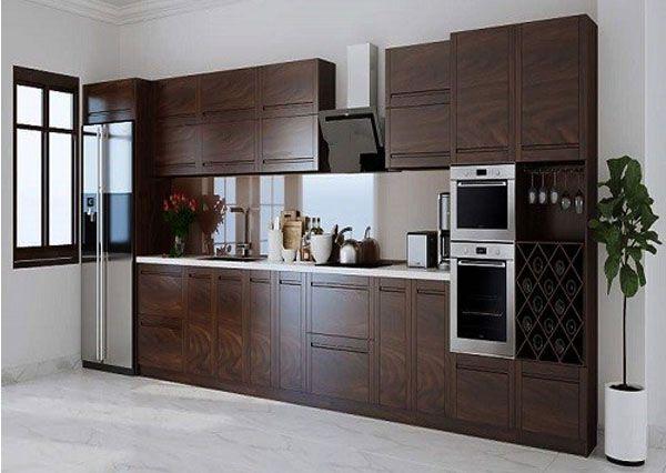 Tủ bếp gỗ óc chó là gì - Những thông tin cơ bản về tủ bếp gỗ tự nhiên