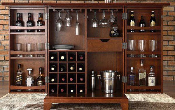 Tủ rượu cần phải bài trí hợp lý và khoa học để tạo không gian sang trọng cho căn phòng - Nadu Furniture
