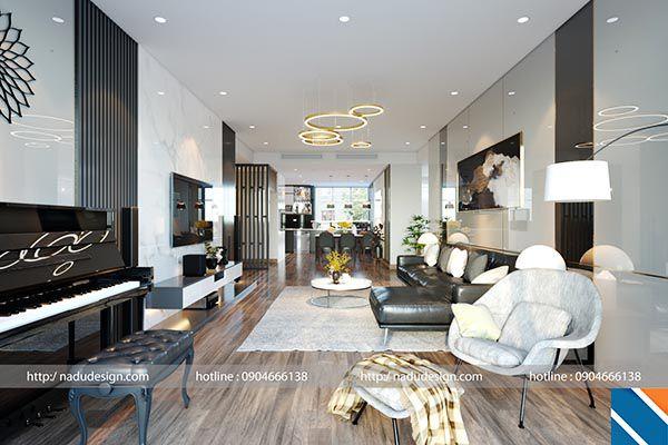 Thiết kế phòng khách cạnh phòng ăn để tiết kiệm tối đa diện tích - Nadu Furniture
