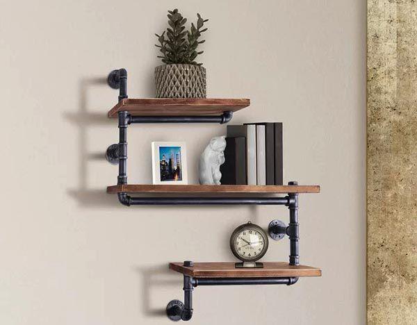 Trang trí bằng kệ treo tường đẹp bằng gỗ óc chó đang là xu hướng của không gian nội thất cao cấp - Nadu Furniture