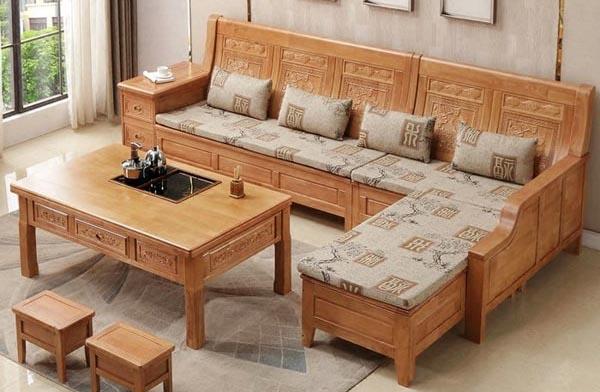 Đệm ghế gỗ phòng khách bằng nỉ Tone Xám 2- Nadu Furniture