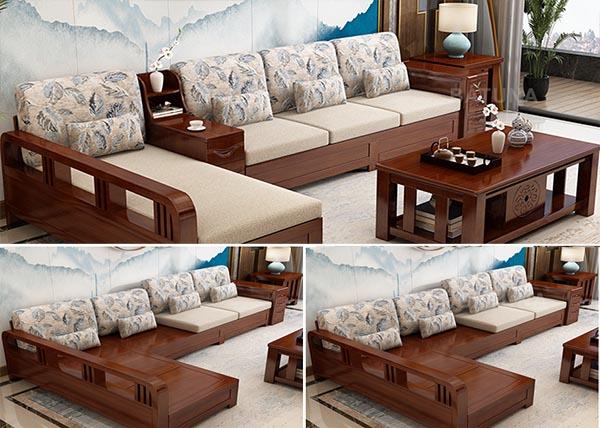 Đệm ghế gỗ phòng khách bằng nỉ Tone Xám 3- Nadu Furniture