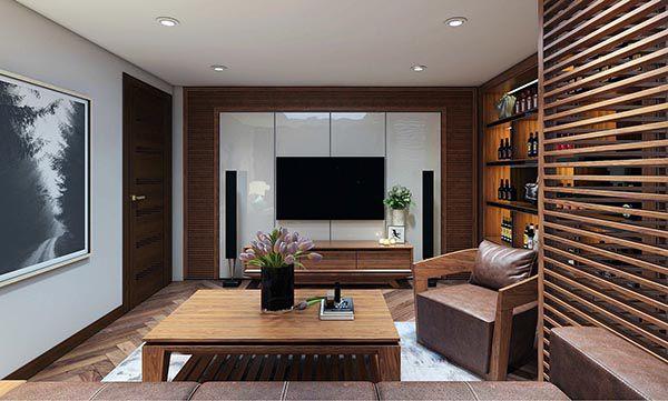Đồ gỗ nội thất phòng khách thể hiện rõ cá tính và đẳng cấp gia chủ