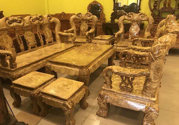 Bàn ghế gỗ nu nghiến cao cấp có thể trị giá cả tỷ đồng - Nadu Furniture