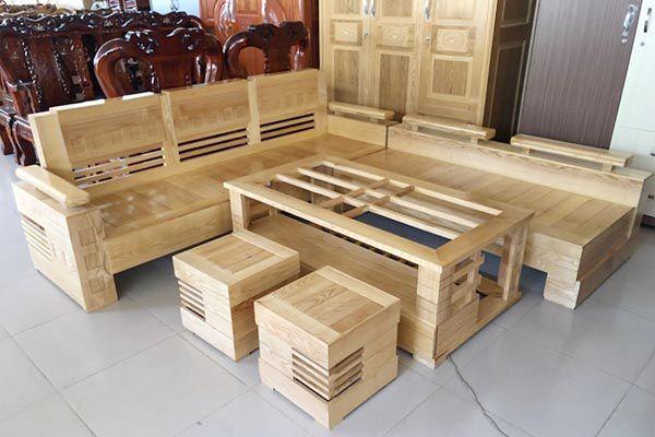 Bàn ghế sofa gỗ sồi vừa đẹp vừa bền bỉ