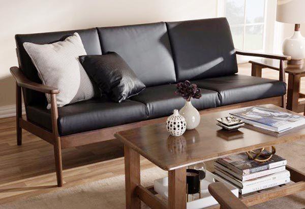 Bộ bàn ghế gỗ phòng khách gỗ óc chó cao cấp SF 201