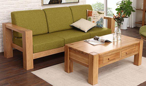Bộ bàn ghế mini bao gồm 1 sofa văng và 1 bàn trà