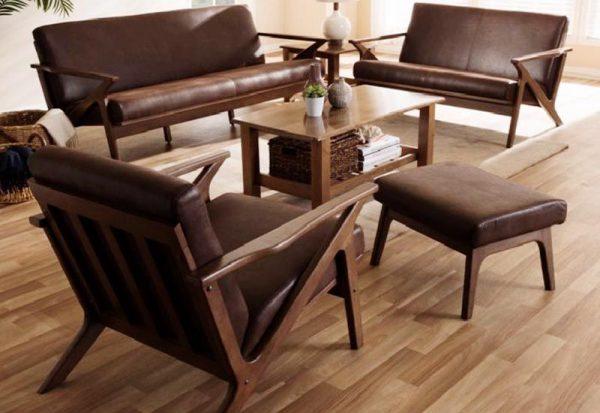 Bộ bàn ghế phòng khách gỗ óc cho mã BGK 101