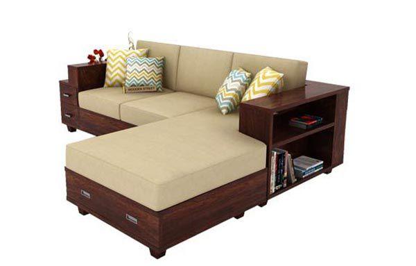 Bộ ghế sofa gỗ óc chó đệm nỉ cho phòng khách thêm sang trọng và hiện đại - Nadu Furniture