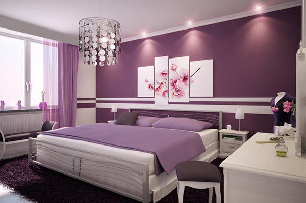 Các màu sơn phòng ngủ đẹp_Màu hoa cà