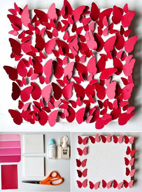 Cách làm đồ Handmade hình cánh bướm để trang trí phòng ngủ