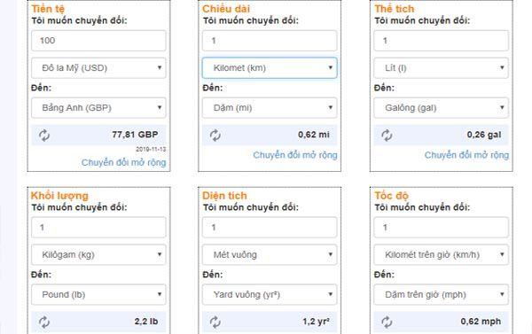 Chuyển đổi 1m2 bằng bao nhiêu cm2 bằng website Convertword