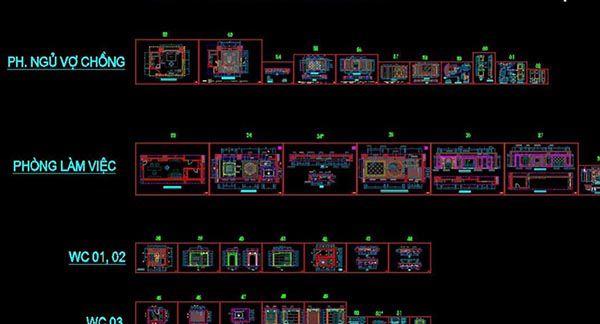 File card triển khai nội thất là gì - Một số file autocad thiết kế tham khảo