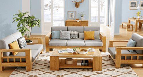 Kích thước bộ bàn ghế phòng khách chữ L tiêu chuẩn