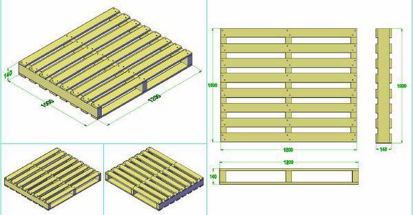 Kích thước gỗ Pallet phổ biến hiện nay