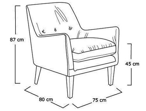 Kích thước sofa gỗ đơn tiêu chuẩn