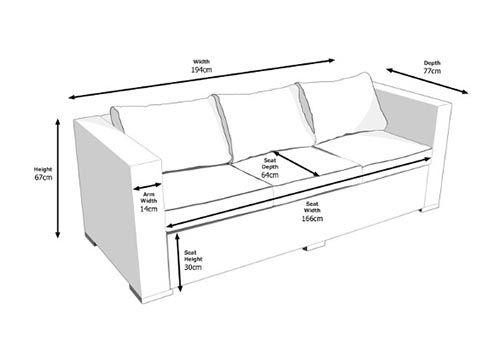 Kích thước sofa văng 3 chỗ chuẩn nhất