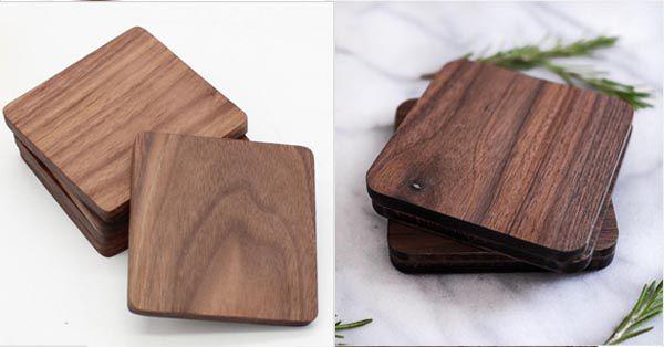 Màu gỗ óc chó tự nhiên và khi đã được sản xuất thành sản phẩm