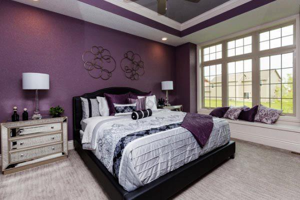 Màu sơn phòng ngủ đẹp cho mệnh Hỏa năm 2019 -2020 - Màu mận chín