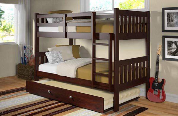 Mãu giường tầng gỗ óc chó đẹp và tiện ích - Nadu Furniture