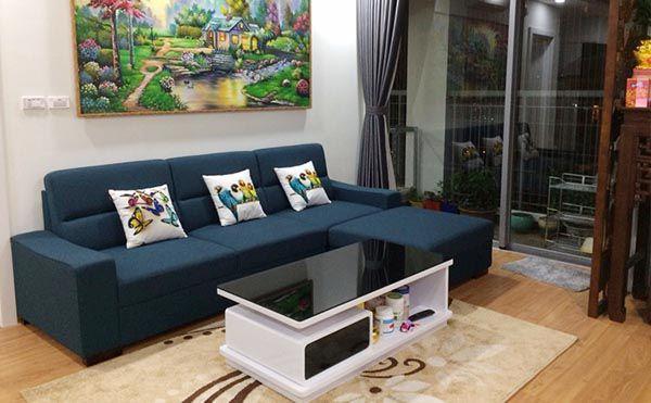 Mẫu Sofa nỉ góc hiện đại cho nhà chung cư - Nadu Furniture