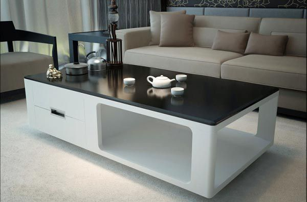 Mẫu bàn trà sofa gỗ kính BTG105 - Nadu Furniture