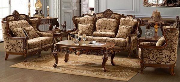 Mẫu bộ bàn ghế gỗ phong cách luxury sang trọng SF 101_Nadu Furniture