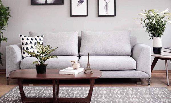 Mẫu ghế sofa văng bọc nỉ trang nhã và hiện đại