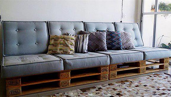Mẫu sofa Pallet đơn giản nhưng không kém phần sang trọng