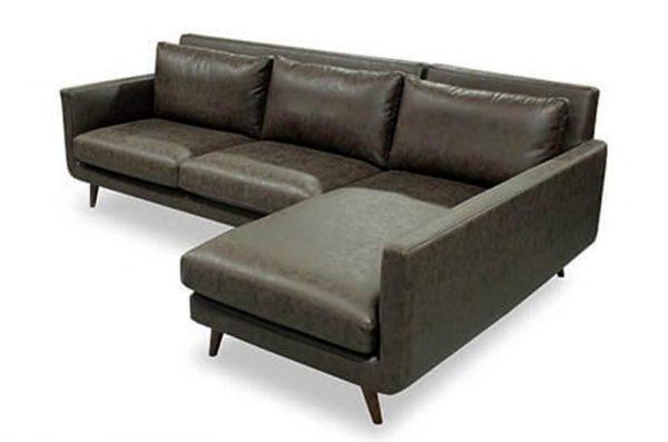 Mẫu sofa chân gỗ đệm da mã SFG230 - Nadu Furniture