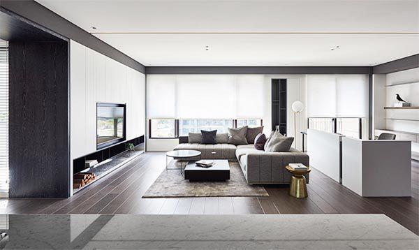 Mẫu sofa cho phòng khách rộng và dài kiểu nhà ống hiện đại - Nadu Furniture